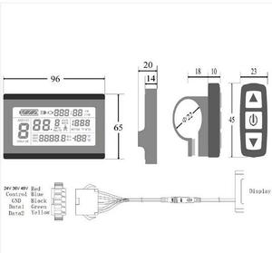 Image 3 - KT  LCD3 kt lcd3 ebike 24V 36V 48V intelligent black Control Panel LCD Display Electric Bicycle bike Parts for KT controller