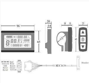 Image 3 - Kt lcd3 KT LCD3 ebike 24V 36V 48V inteligentny czarny Panel sterowania wyświetlacz LCD elektryczne części rowerowe do kontrolera kt
