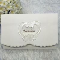 20 עיצוב חדש יח'\אריזה כרטיס הזמנת נייר אישיות עמוד פנימי ריק אירוע מסיבת יום הולדת עסקי חתונה הזמנה