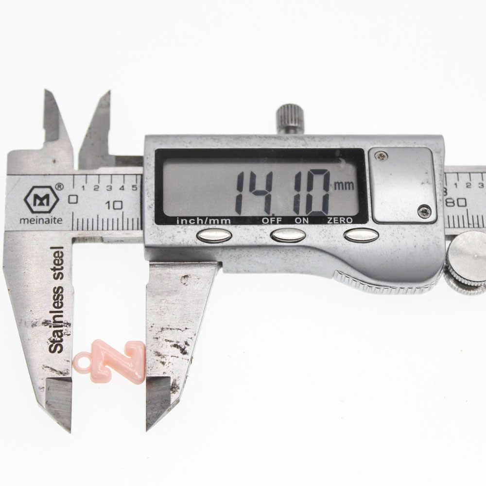 Chongai 100 Chiếc Acrylic Lỗ Treo Kẹo Màu Chữ Cái Hạt Trang Sức Làm Cho Trẻ Em DIY 18 Mm