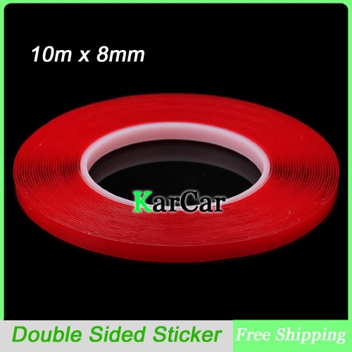 10m x 8mm Silicone Double Sided Tape Sticker, Car Interior Accessories Double Sided Transparent Adhesive Sticker No Traces 3m auto tape size 10 15 20mmx3m double sided sticker acrylic foam adhesive car attachment interior tape free shipping