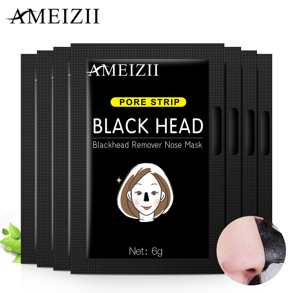 AMEIZII Facial Black Mask Peel Off Bamboo Charcoal Purifying Blackhead Remover Face Nose Masks Oil Control Mud Facial Beauty
