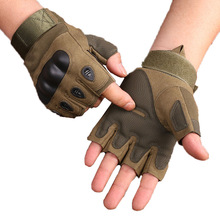 Tactical Half Gloves Military Army Shooting Paintball Airsoft Bicycle Motorcross Combat Hard Knuckle Protect the Finger Gloves(China)