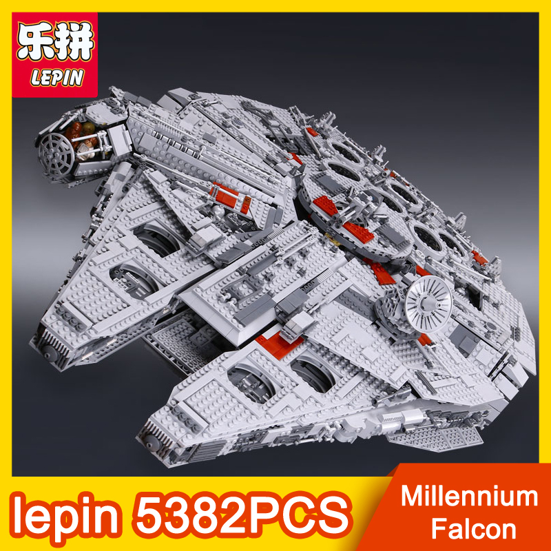 LEPIN 05033 5382PCS Star Series Wars Death Star Building Blocks Bricks Kits Compatible toys for children Birthday Christmas Gift iec 320 pdu ups c14 male to c13 female converter extension power cable switch power converter plug