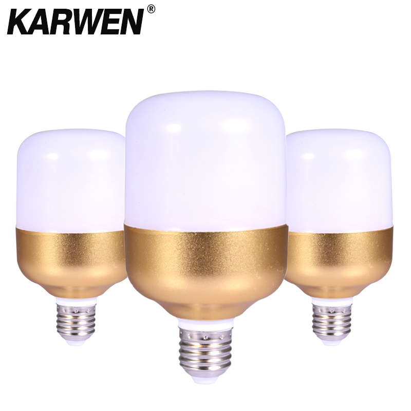 KARWEN <font><b>LED</b></font> Bulb E27 5W <font><b>10W</b></font> 15W 20W 30W Bombilla <font><b>220V</b></font> <font><b>Led</b></font> Lamp Lights Cold white <font><b>Spotlight</b></font> Ceilling Table Lamp for Home Lighting image