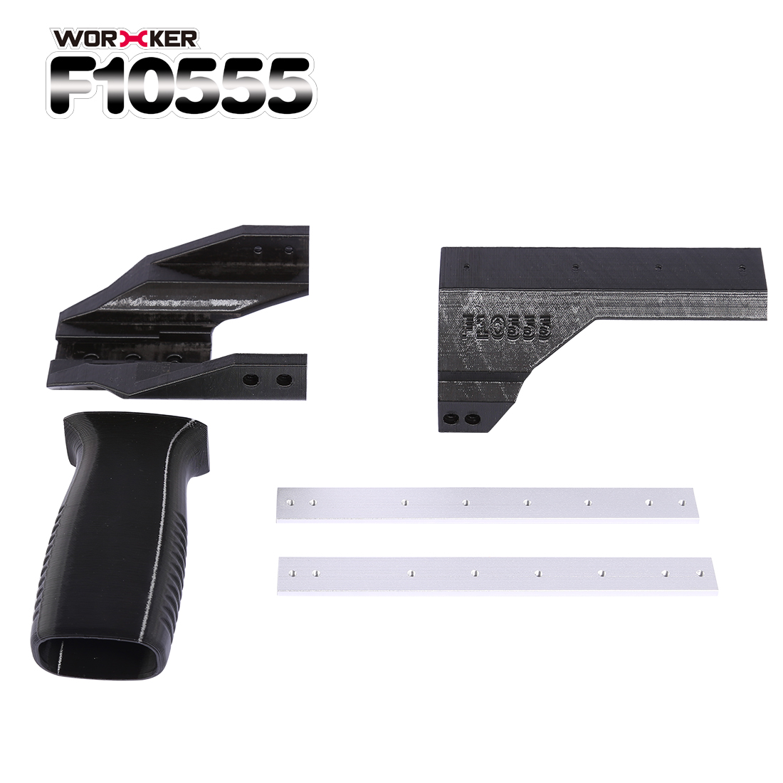 WORKER F10555 3D Printing Pull down Grip Sliding Block Kit for Nerf  Retaliator(Free Disassembly Version) Black-in Toy Guns from Toys & Hobbies  on