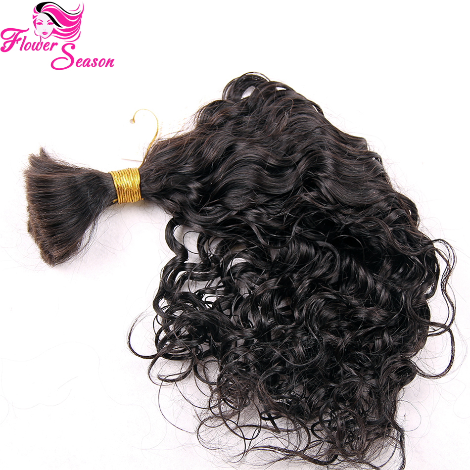 Natural Curly Virgin Braiding Human Hair Bulk Color 1B Unprocessed Bulk Hair Extensions Peruvian No Weft Human Hair On Sale