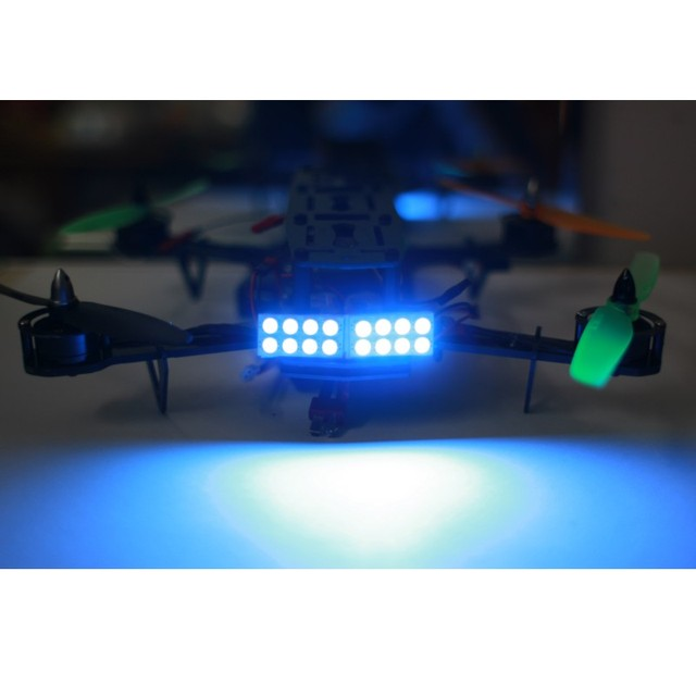 4Pcs Super Bright 5W Night Flying Tail LED lights Searchlight Drone RC Light for QAV250 ZMR 250 Quadcopter Kit