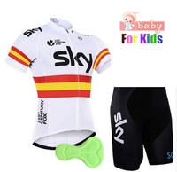 Boy girls Cycling Clothing Set pro cycling jesrey set for Kids ropa ciclismo Mtb Bike Shorts Suit Children Maillot Ciclismo Kits