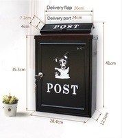 European letter box outdoor rainwater villa mailbox wall with lock postbox large rural creative letter box genuine