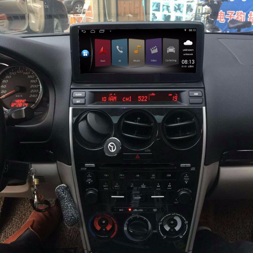 10.25 inch Car Multimedia Player for Mazda 6 with GPS Navigation MP5 Bluetooth Wifi