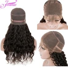 150 плотность малазийские волнистые волосы фронта шнурка Remy 13*4 человеческие волосы парики предварительно сорванные отбеленные узлы парики