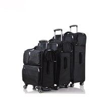 20 ''24'' 28 ''Ткань Оксфорд чемодан с колесами путешествия Водонепроницаемый Чемодан прокатки чемодан путешествия сумка тележка сумки