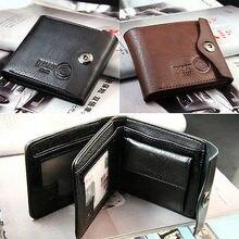 Коричневая кредитная двойные id кошелек карты тонкий кожа мужская подарок