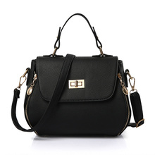 2016 Famous Designer Lock Shoulder Bag High Quality Leather Women Fashion Handbags Woman Small Tote Crossbody Messenger Bags