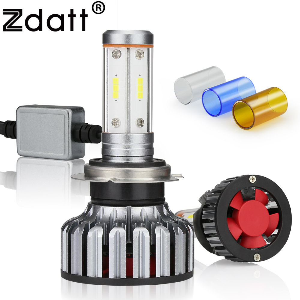 Zdatt LED Car Lights H7 Led Canbus 12000Lm 100W H7 Headlight Bulb 3000K 6000K 8000K 12V 24V CSP Automoblies Motorcycle 3 Colors