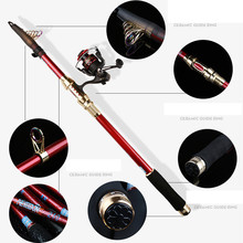 2.1/2.4/2.7/3/3.6M Portable Carbon Soft Casting Fishing Rods Outdoor Durability That Ocean Fishing Tackle Fishing Rod Pole