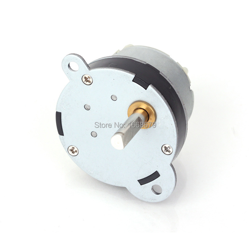 EBOWAN 12 V DC Metall Elektrischen Getriebemotor 40 MM 7 RPM Leistungsstarke High drehmoment Für RC Auto Roboter Modell DIY Motor Spielzeug Hausgeräte