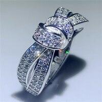 Ручной работы кольцо Любовь навеки 925 пробы серебро AAAA фианит Обручение обручальное кольцо кольца для мужчин и женщин палец вечерние, ювел