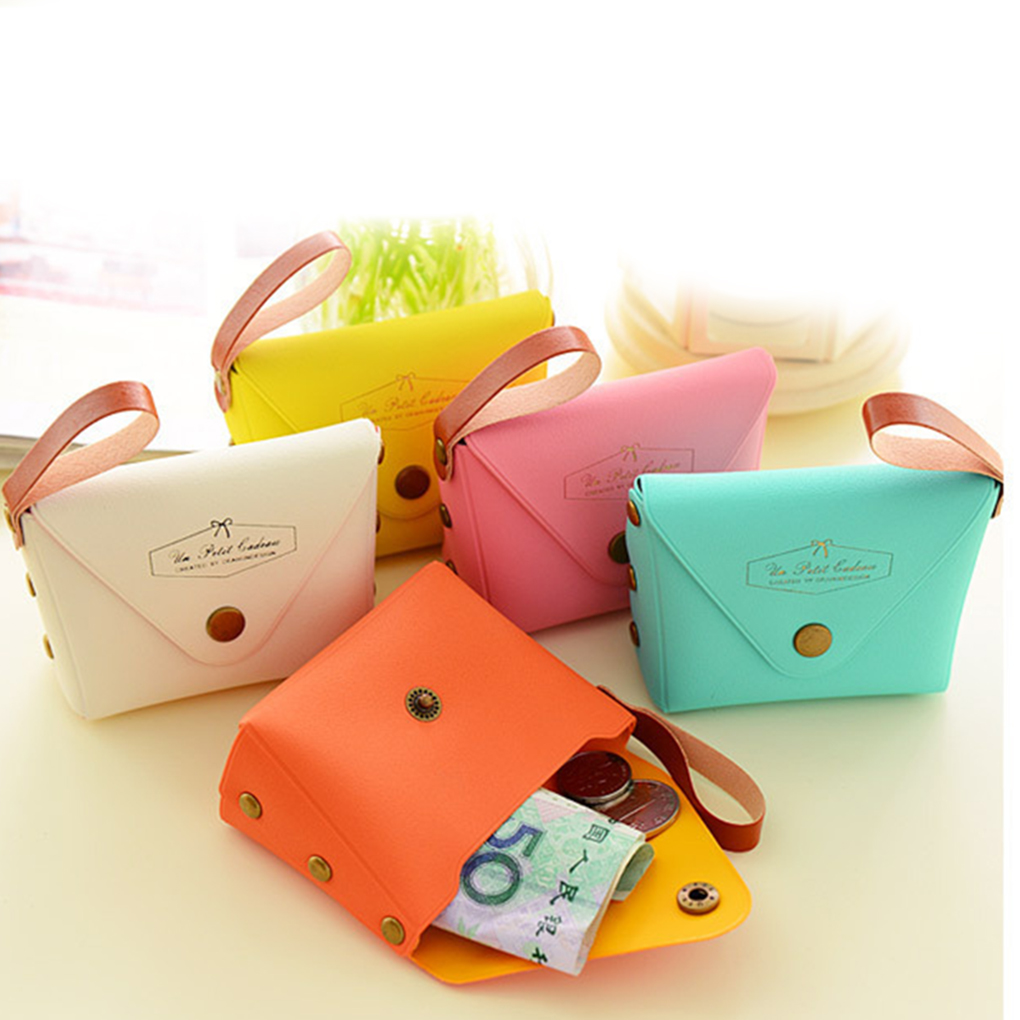 Purse Small Wallet Clutch Money Candy-Colors Mini Women Change-Bag Coin-Key-Holder New