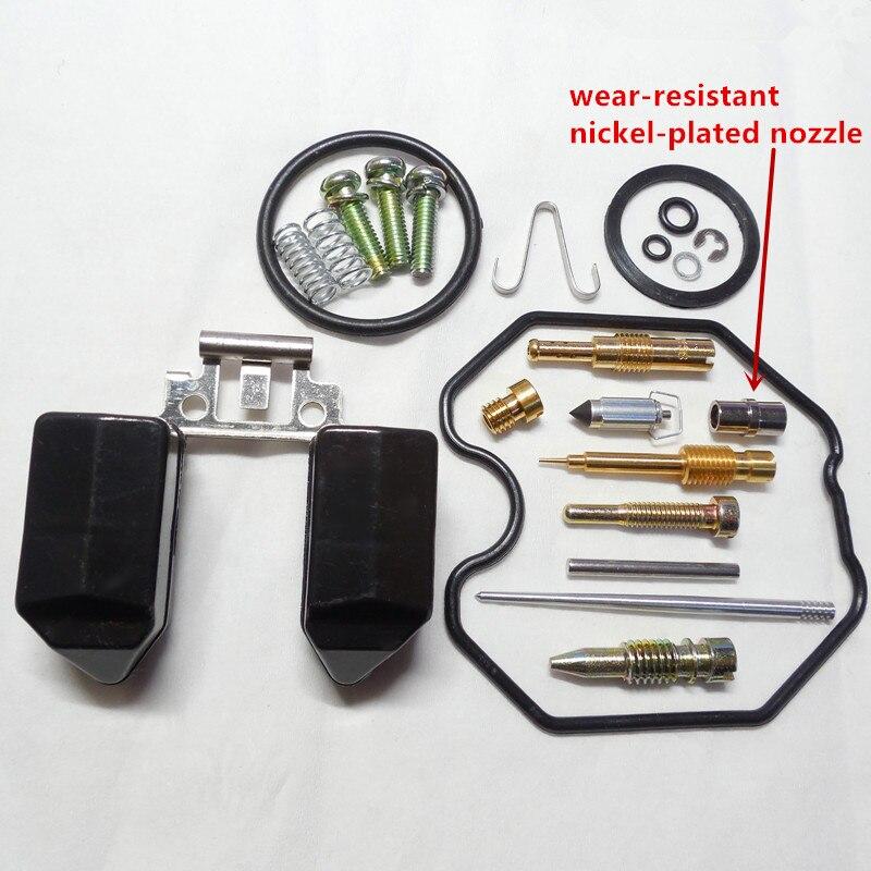 Keihin carburetor PZ26 reparationssatser CG125CC ATV motorcykel reparationsväska (med slitstark nickelpläterad munstycke)