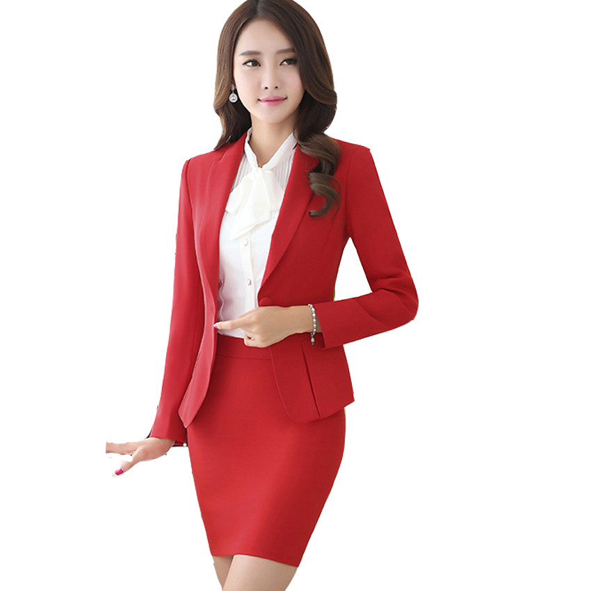 New-Hot-Fashion-Women-Ladies-Autumn-spring-Dress-Suits-Slim-Stitching-Pocket-bussiness-work-wear-Sets