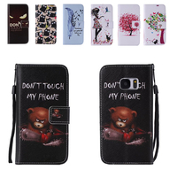 Cartoon Phone Case Cover For Samsung Galaxy S5 S4 S3 Flip PU Leather Magnetic Stand Wallet