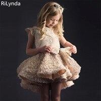 Infant Vestido Infantil Flower Girls Dresses Petals Elegant Pageant Formal Flower Girl Dress for Wedding Party Dresses