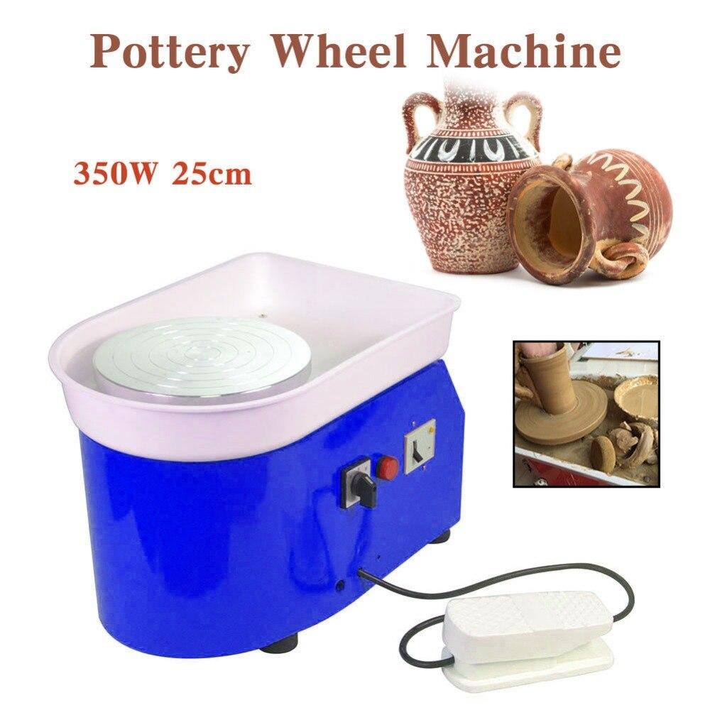Nouveauté 350 W Machine de roue de poterie électrique pour le travail en céramique argile Art artisanat 25 CM