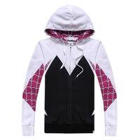 جوين العنكبوت سبايدرمان تأثيري حلي سترات الزي الملابس معطف هوديس البلوز الكرتون الترفيه