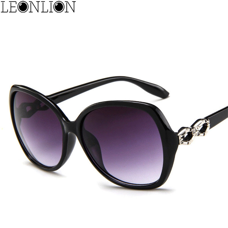 LeonLion 2018 Classic Gradient Oversized Sunglasses Women Brand Designer Vintage Ladies Sun Glasses UV400 Oculos De Sol Feminino