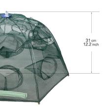 16 Holes Automatic Folding Fishing Net Shrimp Cage Nylon Foldable Crab Fish Trap Cast Net Cast Folding Fishing Network