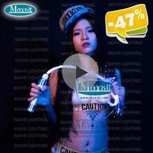Maykit 10 цветов Изменение оптического волокно кнут светильник со светодиодной кнут светильник источник света и конец свечение волокно для вечерние бар snesory детская Применение