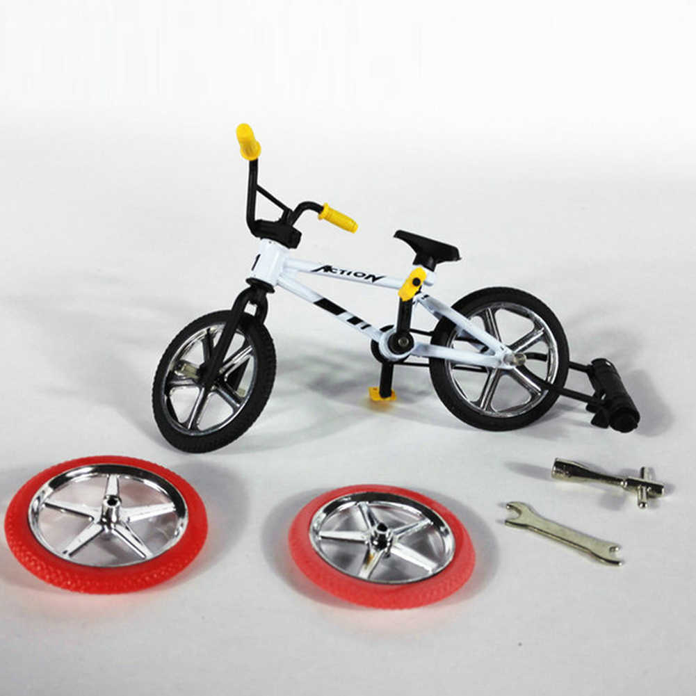 Mini Finger BMX Bicycle Flick  Finger Bikes Toys BMX Bicycle Model Bike  Gadgets Novelty Gag Toys For Kids Gifts