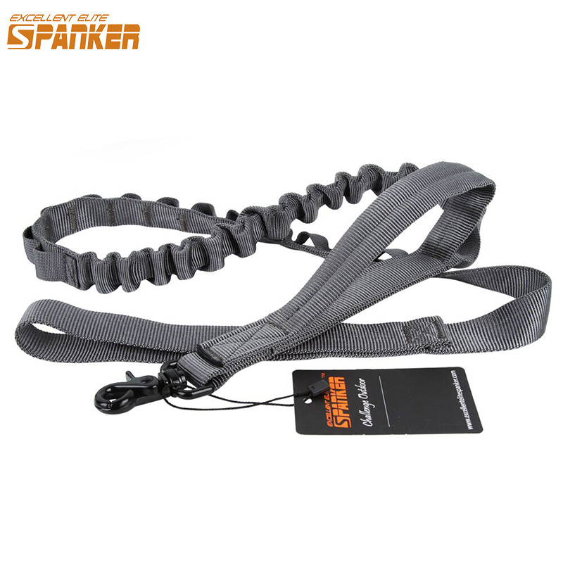 EXCELLENT ELITE SPANKER Bungee Dog Leash Tactical Dog Leash Adjustable Rope Dog Leash For Dog With