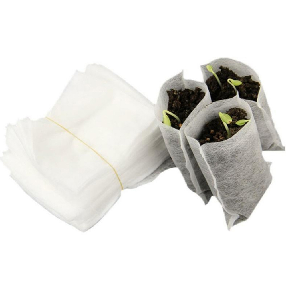100 шт./лот пересадки овощей разведение горшки биоразлагаемые семена мешки для питомника детские цветочные горшки садовое насаждение 25
