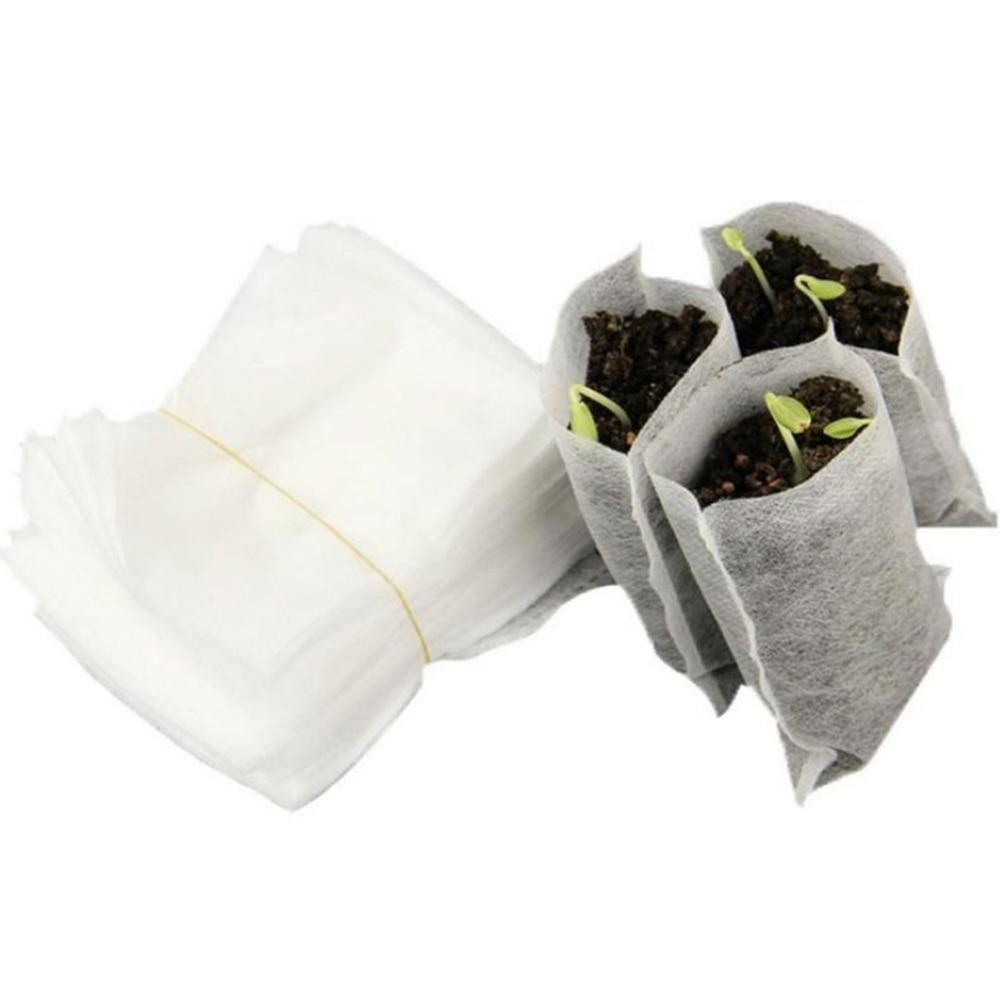 100 pc'er / lot transplantere grøntsager avlspotter biologisk nedbrydelige frøposer til planteskole børnehave blomsterpotter haveplantning 25