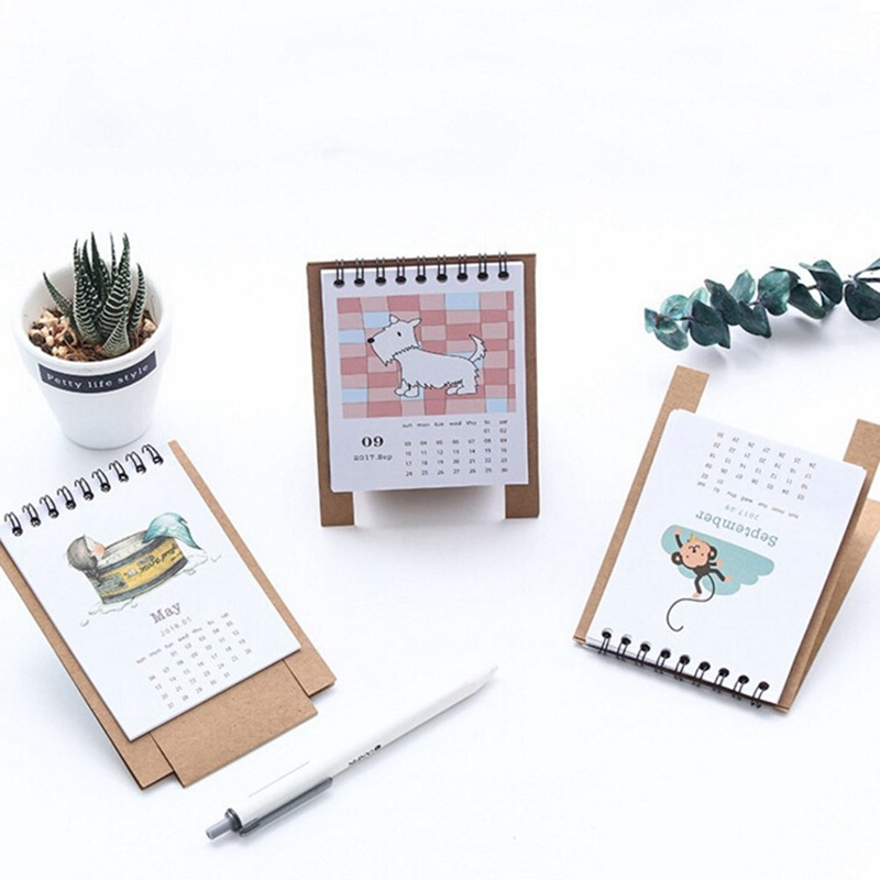 19*8.3cm Creative Desk Standing Paper Multifunction Organizer Schedule Planner Notebook 2018 Year New Kawaii Cartoon Calendar Office & School Supplies Calendar