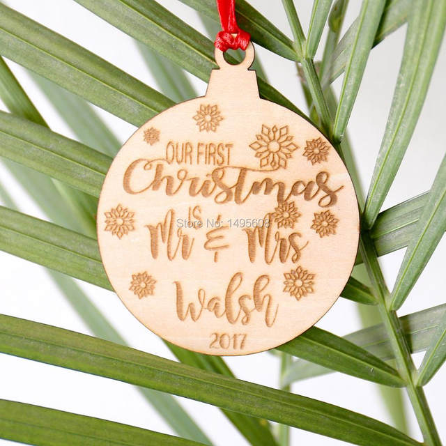 online shop our first christmas ornament married personalized