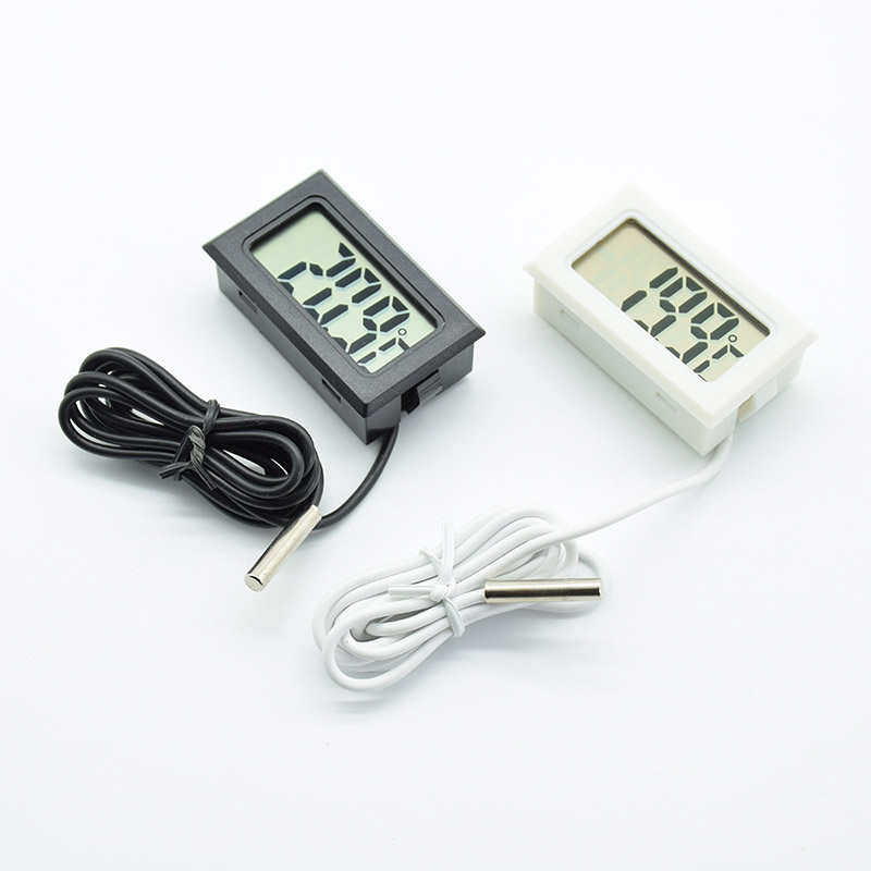 White Black Mini LCD Digital Thermometer Hygrometer Fridge Freezer Tester Temperature Humidity Meter Detector