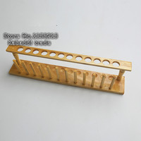 2 teile/los holz reagenzglas rack 12 löcher geeignet für Durchmesser 21mm Hochwertigen Trockenen formel reagenzglas rahmen reagenzglas stehen