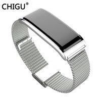 C9 Plus CHIGU Metal Strap Smart Bracelet Wristband Watch Heart Rate Sports IP67 Waterproof better than mi 2 3 DZ09 GT101 Y5 F1