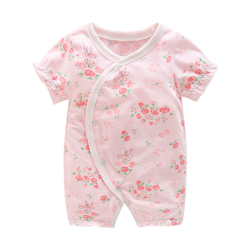 BibiCola newborn baby girls rompers fashon cotton floral jumpsuit sleepwear for toddle kids clothing outfits infant girl pajamas