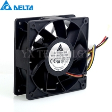 Delta 12V 12038 4.8A PFC1212DE super large wind volume and double ball bearing violent 4-wire fans for