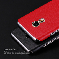 6 Colors For Meizu Pro 6 Leather Grain Plating Frame Back Cover Phone Case For Meizu