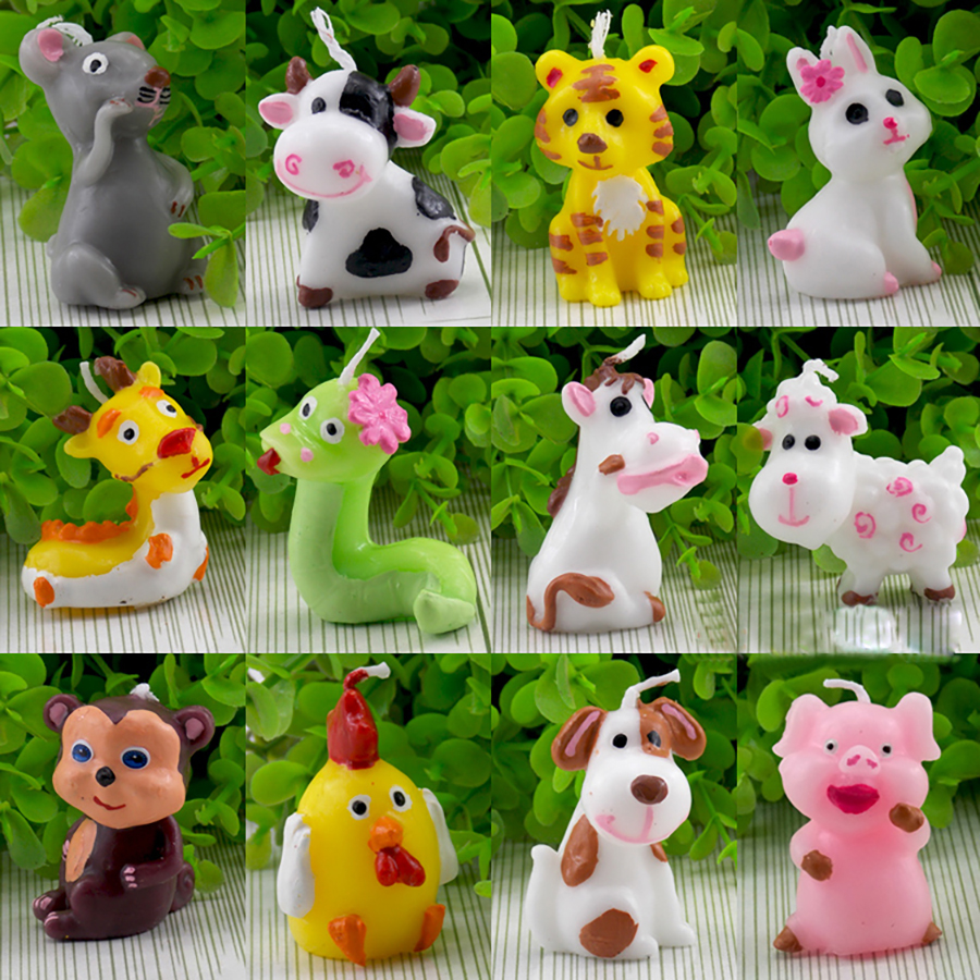 Animal Candle Home Kids Creative Bougie D Coratives Velas Yankee Decorative Candles Birthday Gift Candle Making Bougies QQZ104