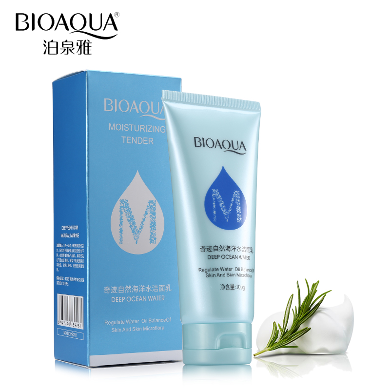 BIOAQUA Brand Facial Cleanser Deep Ocean Water Moisturizing Whitening Deep Pore Remove Grease Mild Cleaning Beauty Skin Care