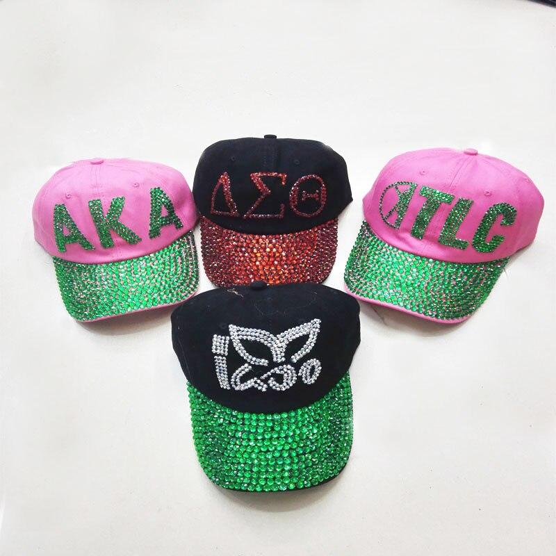 Prix pour 2016 Nouveau Gros 7 couleurs Diamant Point AKA TLC Lettres hommes snapback casquettes femmes casquette de baseball filles Chapeau strass impression