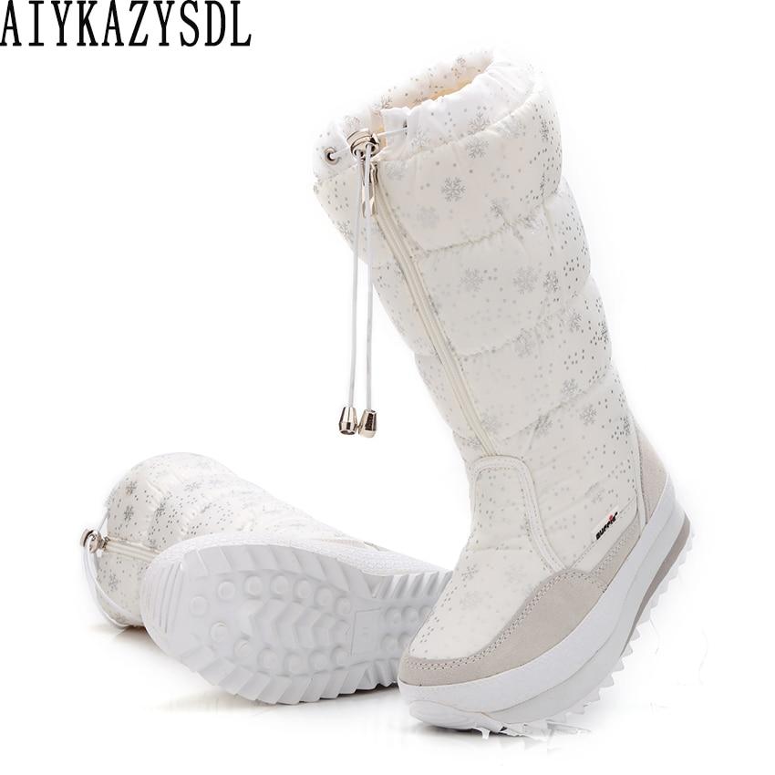 Aiykazysdl Invierno 42 Fur Zapatos Esquí Impermeable Nieve Plataforma Felpa Black De Más white Botas Mujeres Tamaño Faux Grueso 35 rA5zqwfra7
