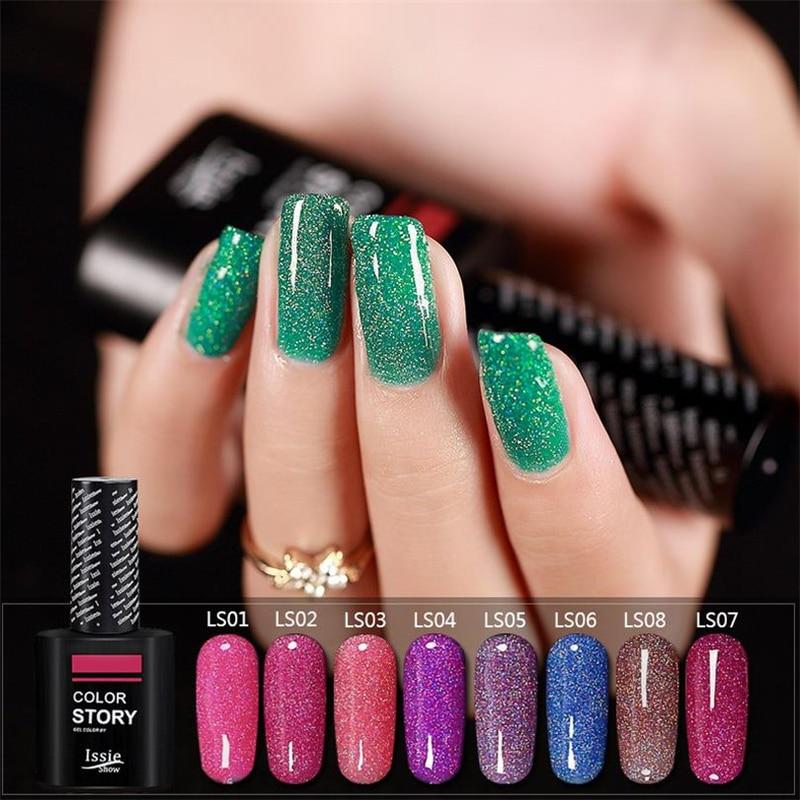 Follome Étoilé Gel Vernis À Ongles Bling Glitter Paillettes UV Gel Tremper Off Ongles Long Lasting Gel Nail Art Conseils Manucure Coloré Laser